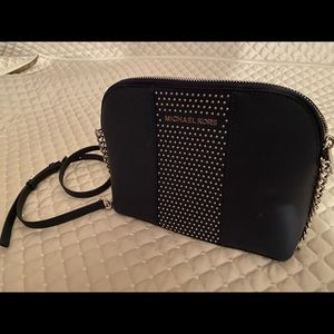 Michael Kors Navy Studded Crossbody - AUTHENTIC